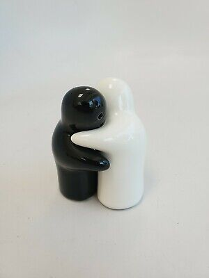 Halloween Salt And Pepper Shakers (Black and White Halloween Ghost Hugging Salt and Pepper Shakers)