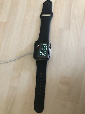 Boxed Apple Watch 38mm Series 0. Space Grey Black Sports Band.