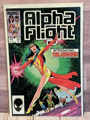 Marvel Alpha Flight  Introducing Talisman! Comic Book 60 Cent Cover 1984
