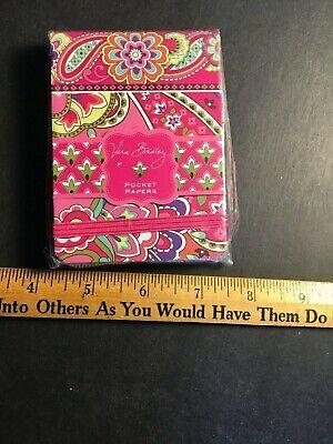 Vera Bradley Notepad Pocketbooks Pink Swirls Pad Small Note Pad New A5