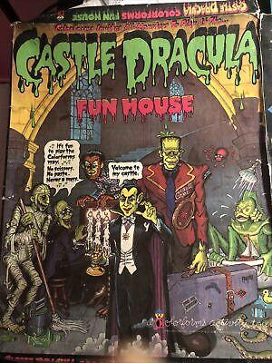 Vintage 1970s Colorforms Monster Castle Dracula Haunted House Set