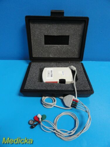 GE Marquette Seer MC Ambulatory ECG Holter Recorder With Leads + Case  ~ 17599