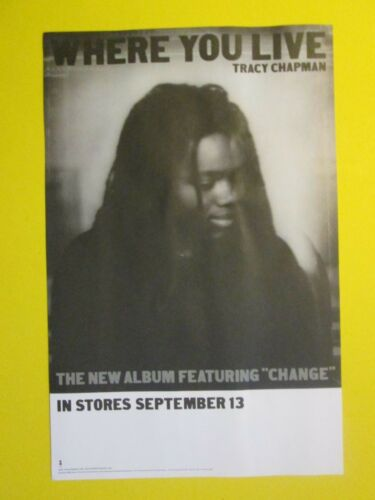 "Tracy Chapman Where You Live 2005 Promo Poster New 11""x17"""