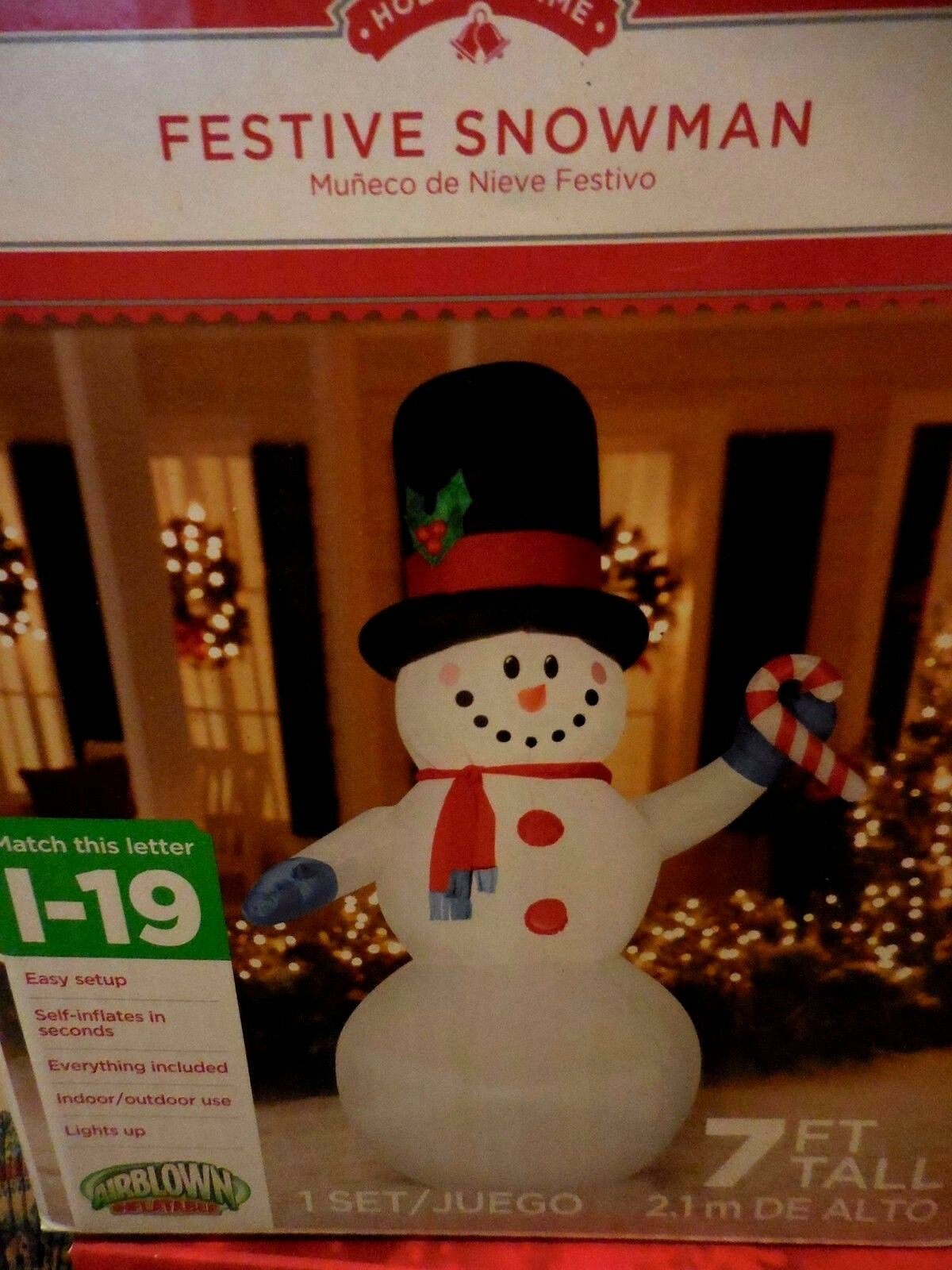 Frosty Snowman Fab 7 Ft. Outdoor Inflatable Christmas Lawn Lighted