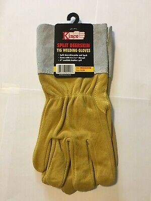 Kinco New Split Deerskin Tig Welding Gloves Medium