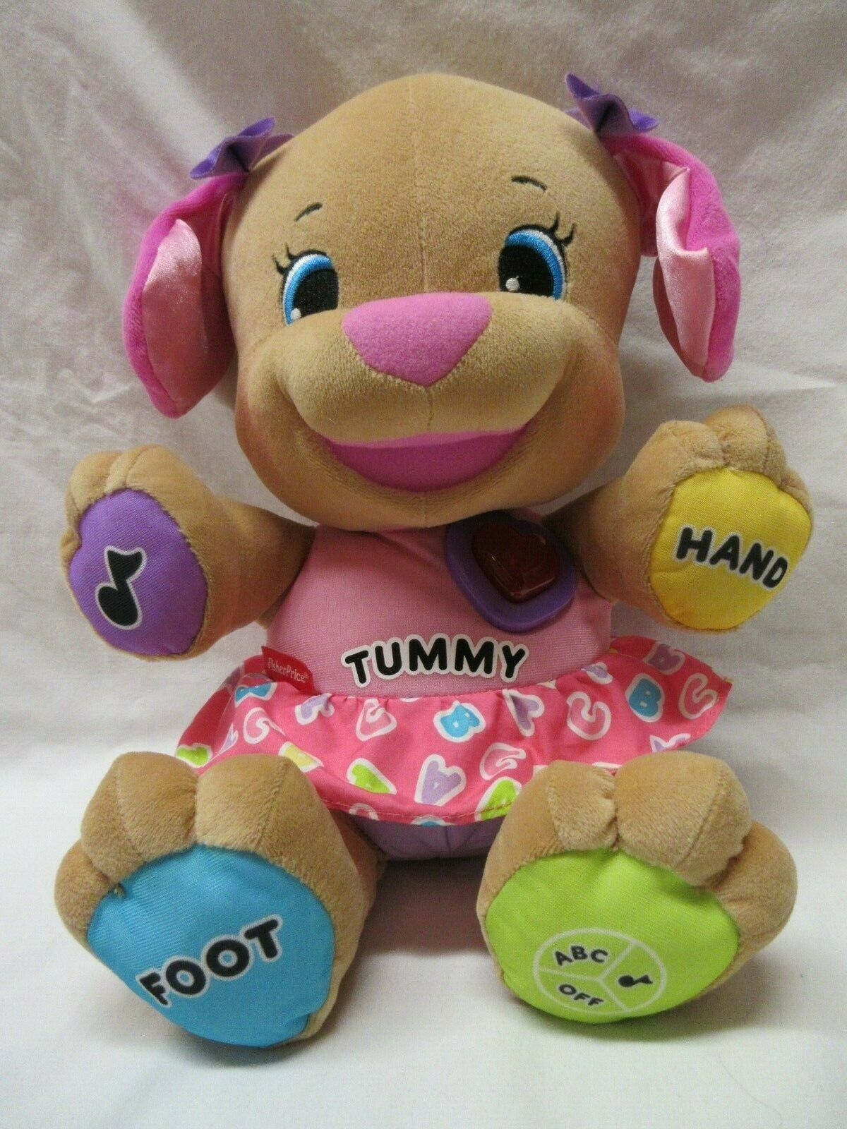 Fisher Price Laugh N Learn Learning Musical Pink Sister Puppy Dog Baby Toy Plush - $4.95