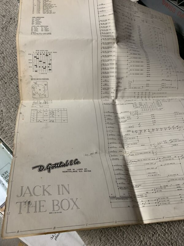 Jack in the box Schematics Gottlieb Pinball Arcade  game manual