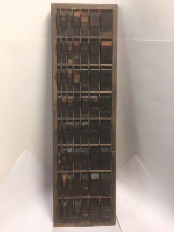 vintage hamilton FULLY LOADED Letterpress Furniture Cabinet