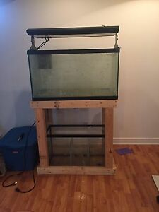 Reef aquarium 55gl. Sump and t5 light
