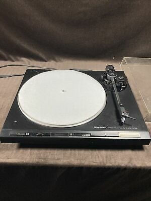 pioneer Direct Drive Full Automatic Turntable PL-730 Working Cracked Dust Cover