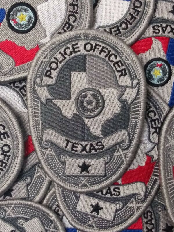 Hook and loop backingTexas Police Badge Patch
