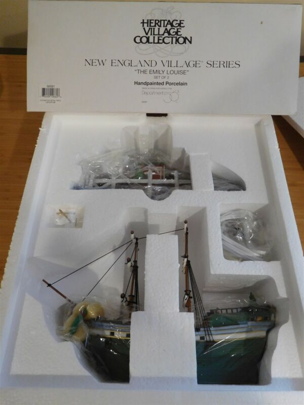 Dept 56 New England Village - The Emily Louise Ship & Dock