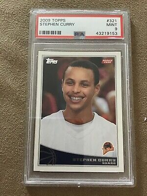 "2009 Topps #321 Stephen Curry RC Rookie PSA 9 MINT "" 3x NBA CHAMPION """