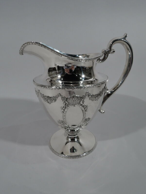 Durgin Empire Water Pitcher - 134 - Antique Regency - American Sterling SIlver