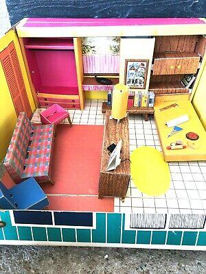 Vintage Barbie Dream House Cardboard House W/ Furniture 1962