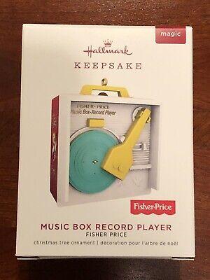 Hallmark 2019 Ornament - Music Box Record Player - Fisher Price