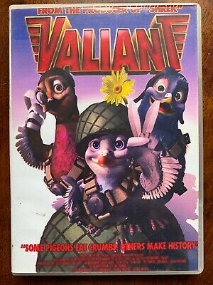 Valiant DVD 2005 British Homing Pigeon Animated Movie w/ Photocopied Cover