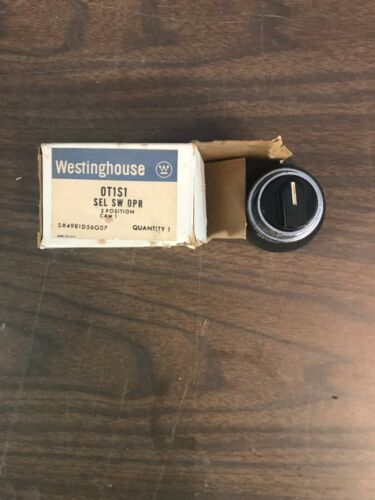NEW Westinghouse OT1S1 2-Position Selector Switch Black
