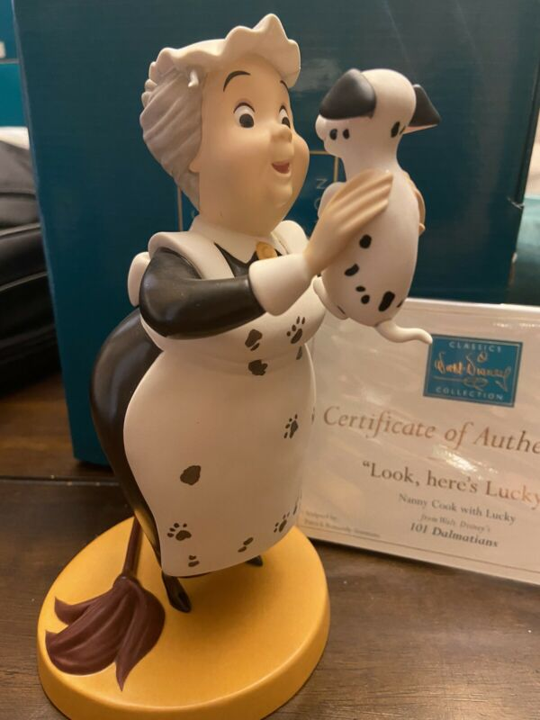 """wdcc nanny cook 101 dalmations  """"look heres lucky"""" With Box And Coa"""