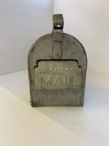 Vintage U.S. Mail Approved By The US Postmaster General Steel Old Mailbox Rustic