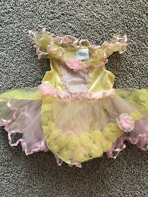 Infant Princess Costume (Disney Store Princess Belle Costume Infant Birthday Dress Tulle 18 Months)