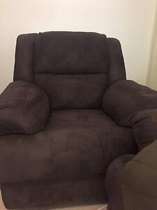 FRANKLIN 3piece Lounge Suite comprising of 3 seater + 2 Recliner Neutral Bay North Sydney Area Preview