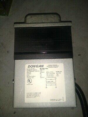 Dongan 80-100-1103 Single Phase Transformer 208230v 115v 1.0 Kva 1p