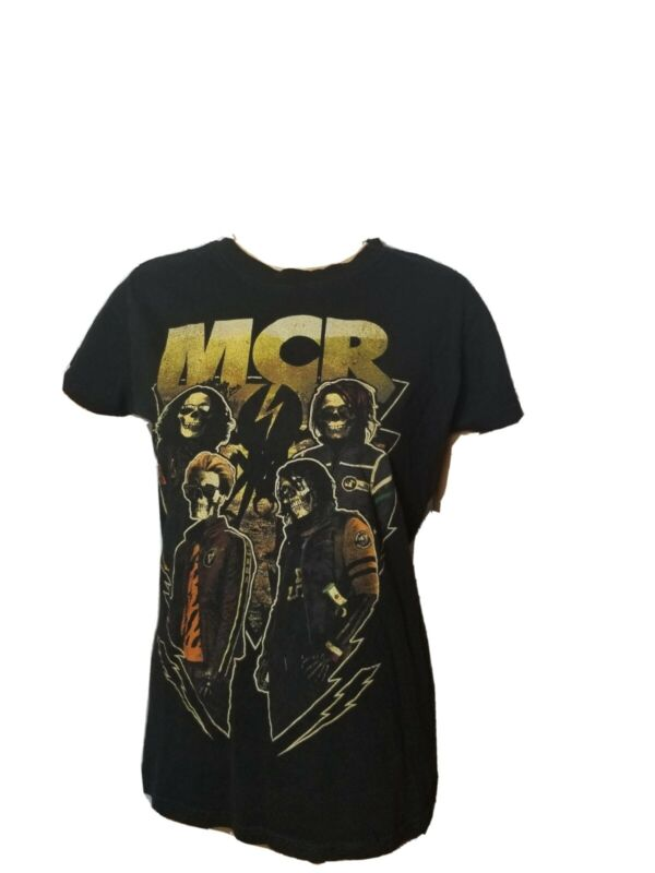 Rare MCR My Chemical Romance Shirt Black Slim Fit Large Womens Band Tee Rock
