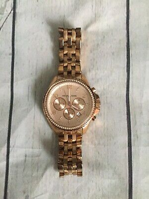 Michael Kors Rose Gold Watch Style 5425 Women's Oversize