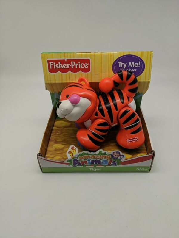 Fisher Price Baby Amazing Animals Cute Tiger Clicker Educational Toy brand new