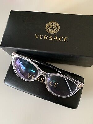 Versace VE3256 Black Clear Eyeglasses