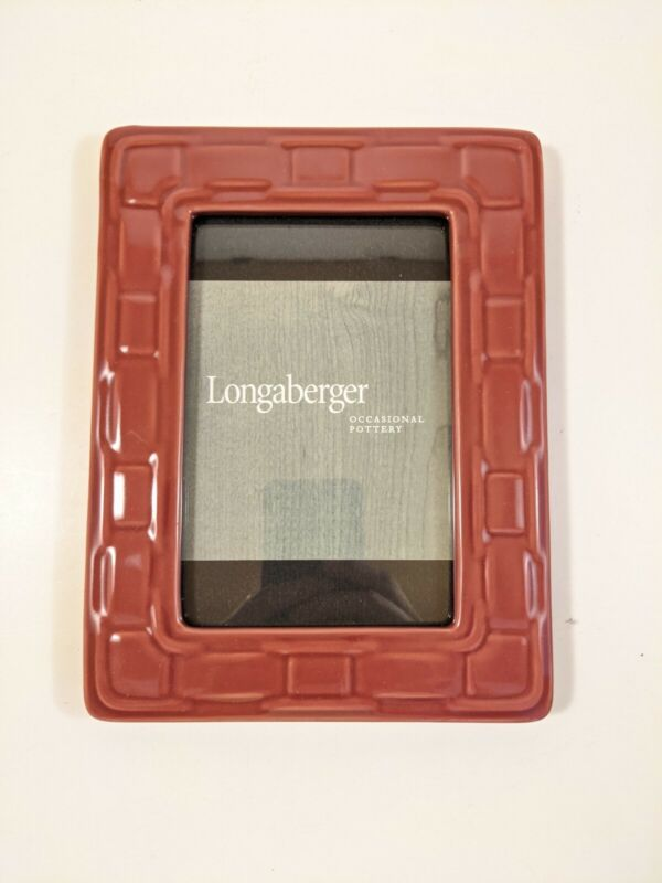 Longaberger Pottery 4x6 Picture Frame In Paprika