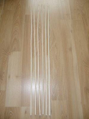 6er Pack Orginal Manila  Rohrstock / Spanking  Set 85 cm, 8/10mm Durchmesser