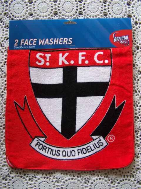 BNWT.......**2** Official St. Kilda Saints Face Washers.....