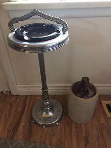 DEAL OF THE Night - Antique Ashtray Stand and Ceramic Jug