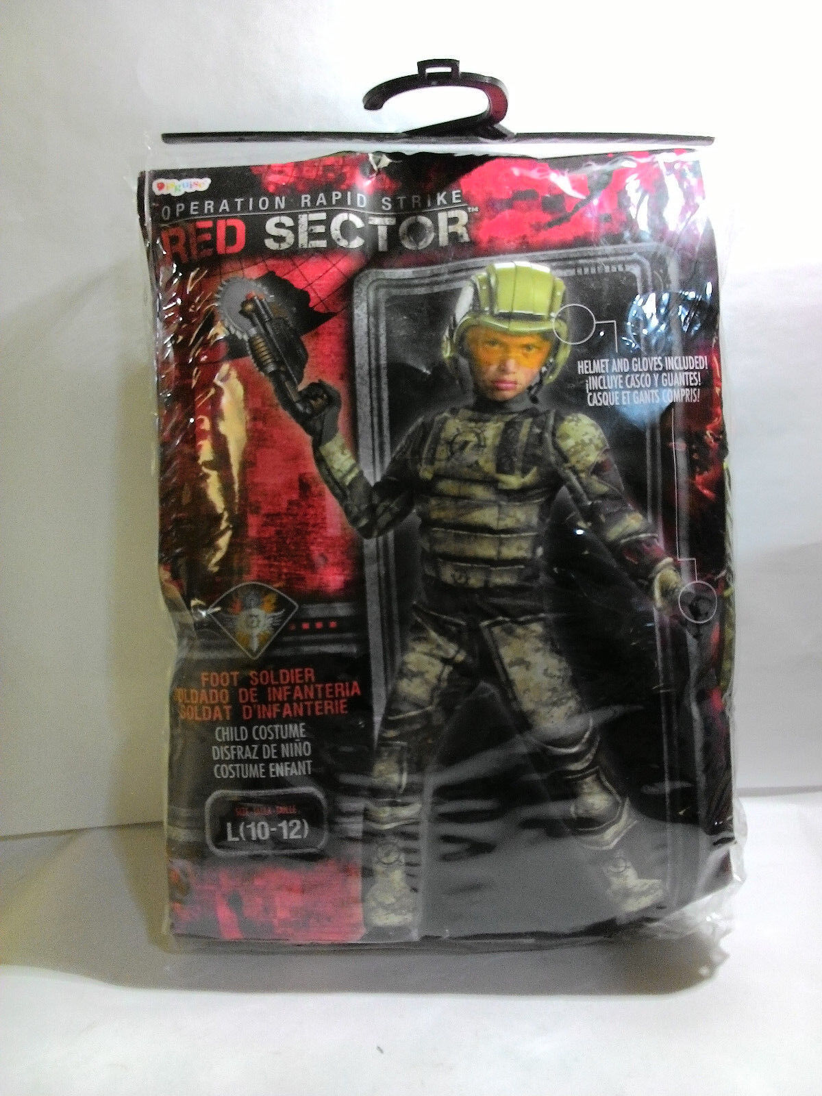 Operation Rapid Strike Red Sector Foot Soldier Classic Muscle Boys Costume S