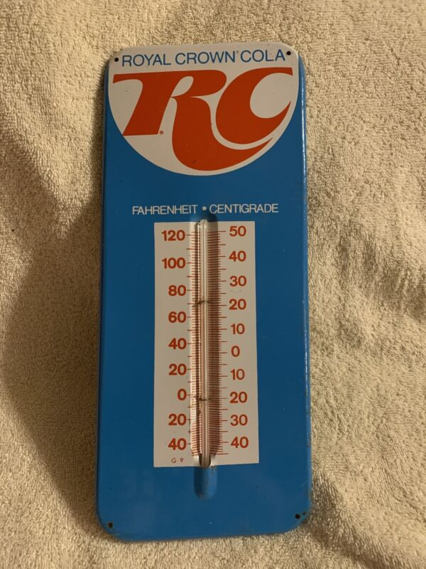 Nice Royal Crown Rc Cola Advertising Thermometer Sign
