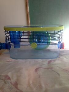 Hamster cage, loft and wheel