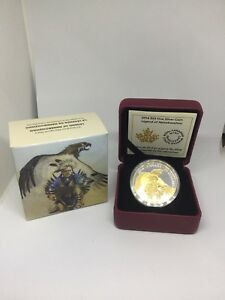 2014 NanaBoozho & The Thunderbird 1oz fine silver coin proof