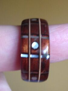 Brand new rosewood ring.