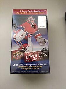 2015-16 UpperDeck Series 1 (12) pack boxes - McDavid Rookie year