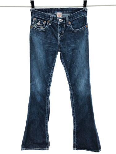 True Religion Boys Sz 14 Big Billy T Jeans Dark Wash Contrast Stitching