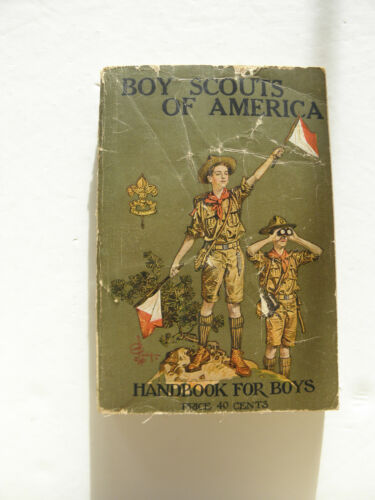 Vintage BOY SCOUTS OF AMERICA Handbook for Boys August 1922 Edition
