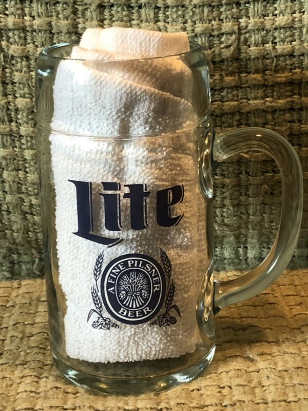 "8"" Tall Miller Lite Heavy Duty Beer Stein"