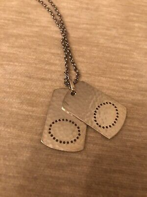Georg Jensen Smithy Dog Tags / Pendant & Chain