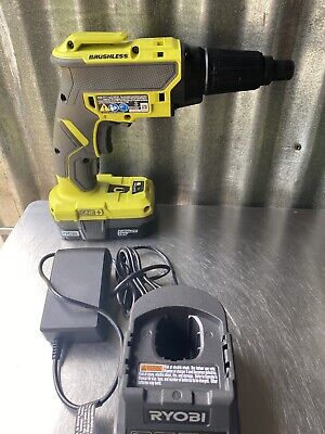Ryobi 18v P225 Drywall Screw Gun With 1 Battery 1.5 Ah And Charger. Good Condion