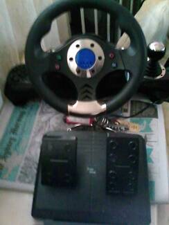2 DAY $49 6/10/15 MULTIPURPOSE NITHO PRO STEERING WHEEL & PEDALS Sylvania Sutherland Area Preview