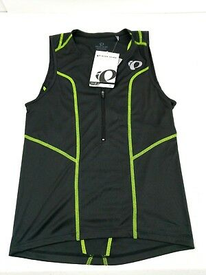 c6ea459c7 Pearl Izumi Men Select Pursuit Tri Sleeveless Jersey 1 2 Zip XS Black Bike  Swim