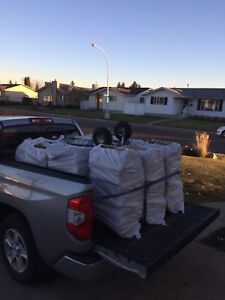 Truckload Dry Campfire Firewood(8 Huge Bags)+Fire Starter $200