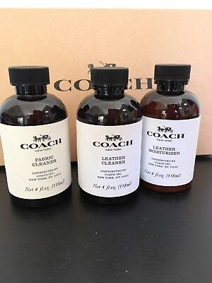 New Sealed Coach Bag Fabric Cleaner Leather Cleaner Leather Moisturizer 4FL oz